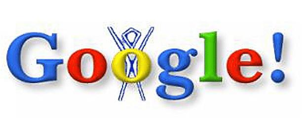 googles first doodle