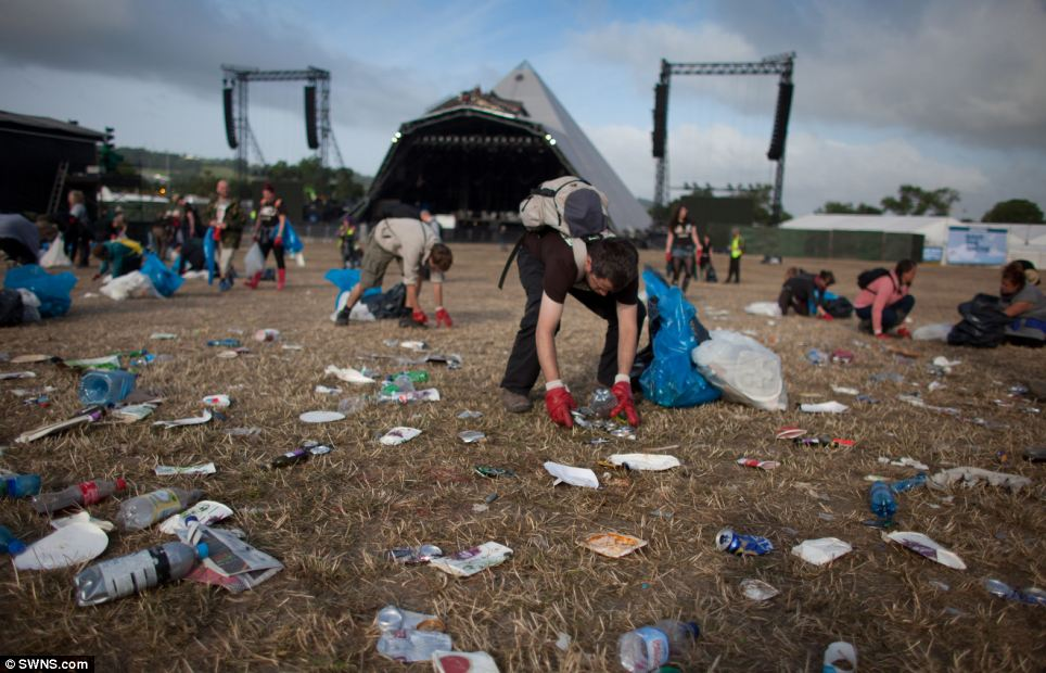 festival clean up