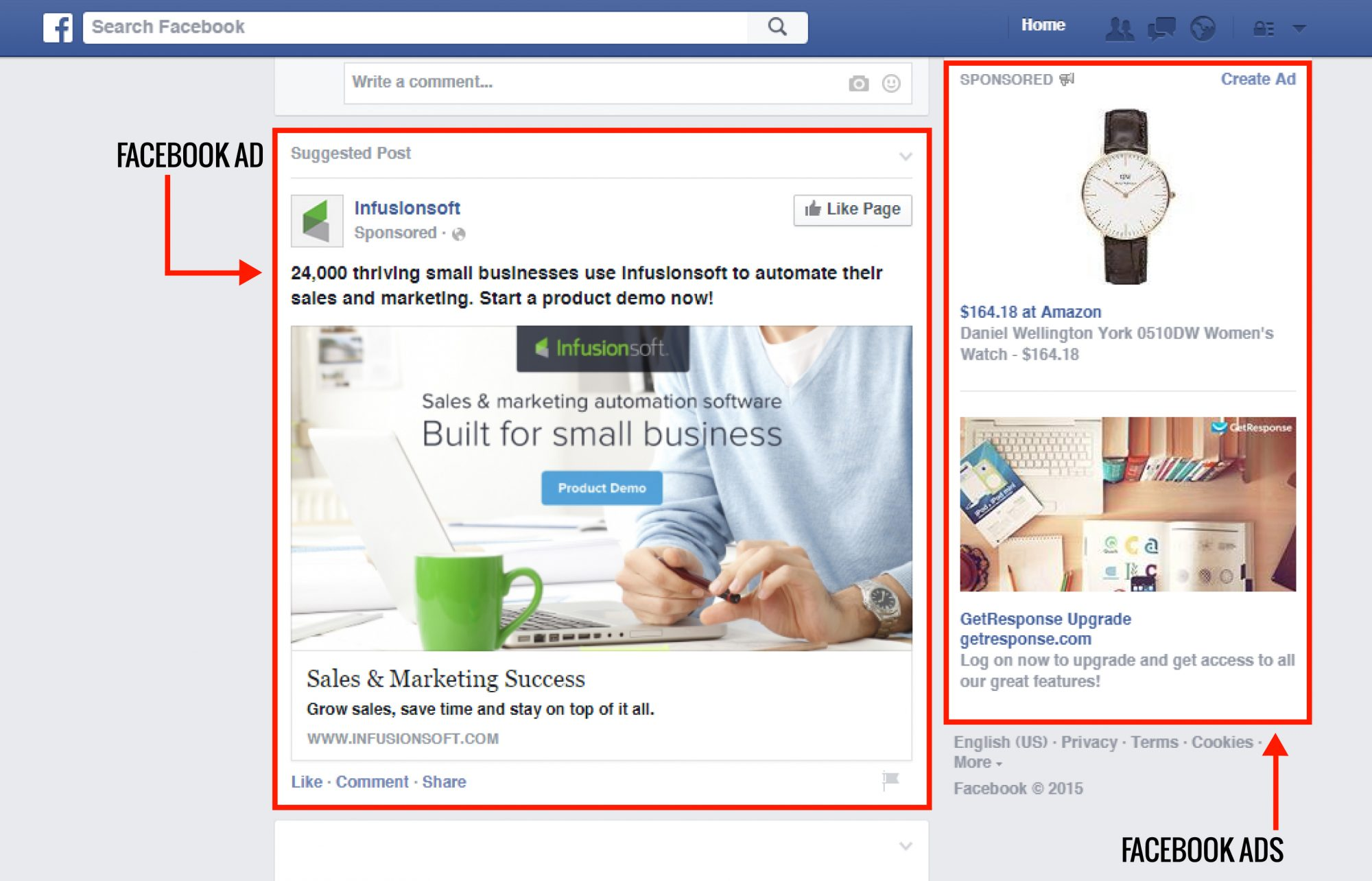 facebook paid advertising