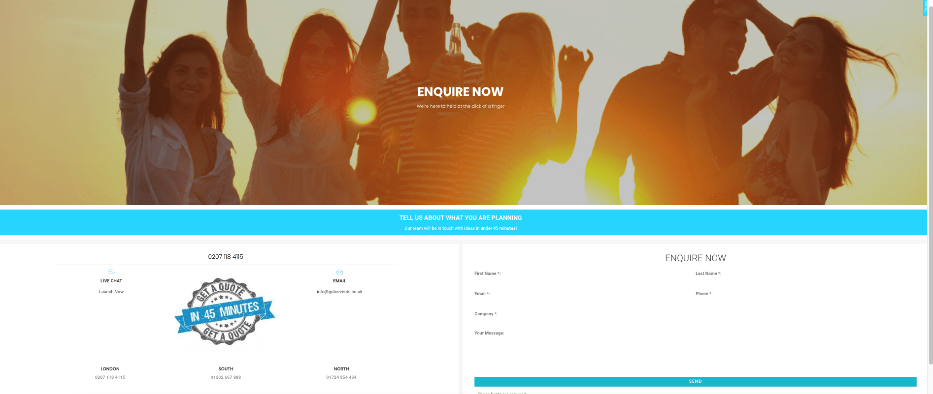 campaign landing page example
