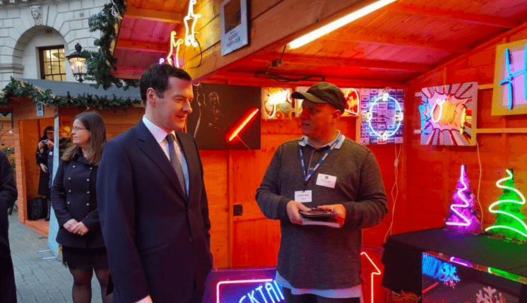 george osborne and tony spink of neon creations