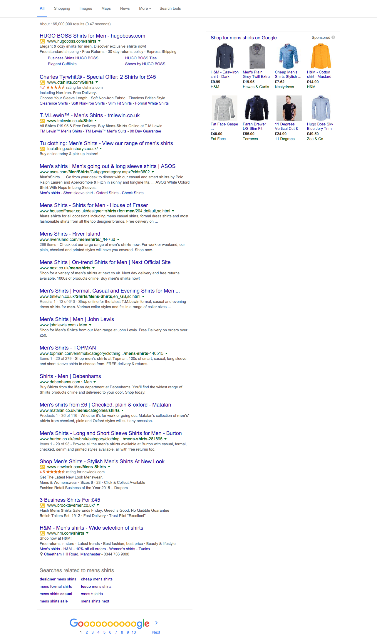 paid search ad positions