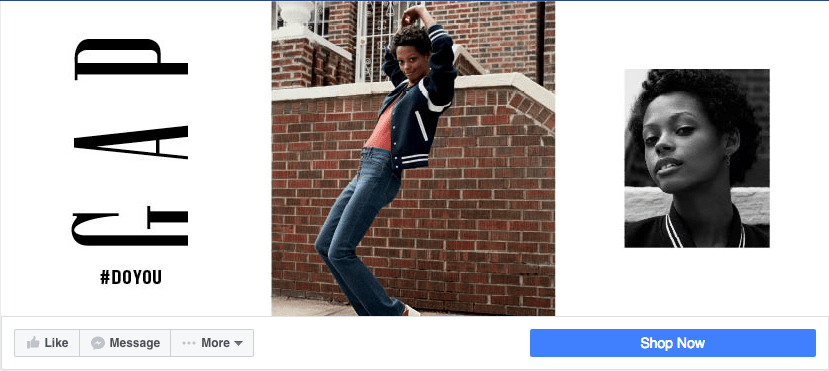 GAP Facebook store